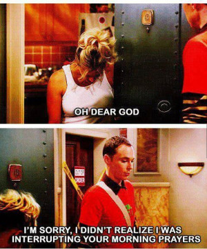 Penny and Sheldon ~ Big Bang Theory wow that is awesome haha i guess ...