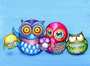 Annya Kai › Portfolio › Funny Owl Family Portrait