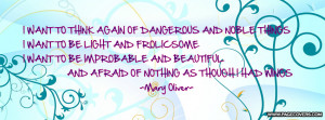 Mary Oliver Quote Cover Comments