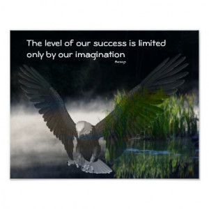 Bald Eagle Success Quote Motivational Poster