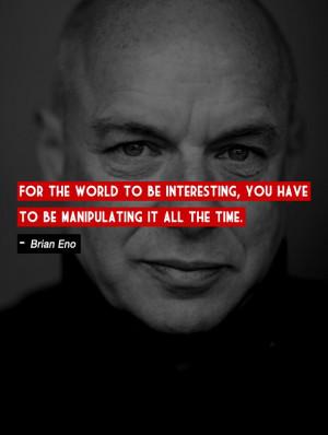 Brian Eno, English musician, composer, record producer, singer, and ...