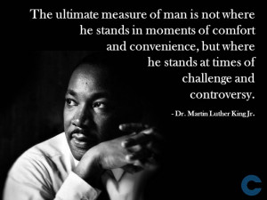 Leadership & #Management. Quote from Martin Luther King Jr. The ...