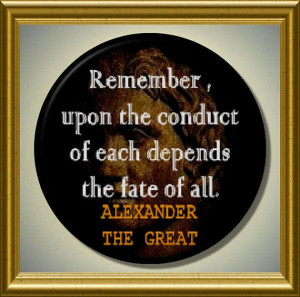 ALEXANDER the GREAT quote the fate of all 2.25 large by Yesware, $5.95