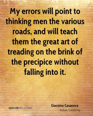 Giacomo Casanova Art Quotes