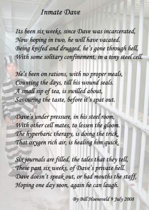 Missing My Inmate Quotes The saga of david gill - poems