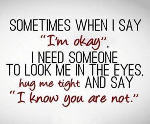 need a hug quote