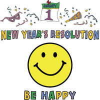 New Year's Resolution Be Happy t-shirts design | Many different New ...