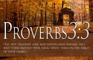 Bible Verses On Love Proverbs 3:3 Scripture Christian HD Wallpaper