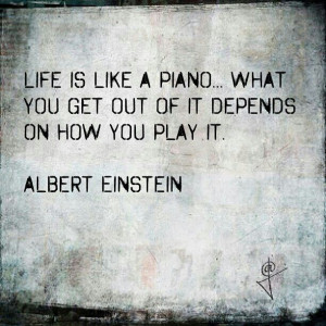 Life is like a piano .... #frases #quotes