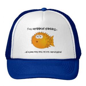 Cute Cartoon Puffer Fish Mesh Hat