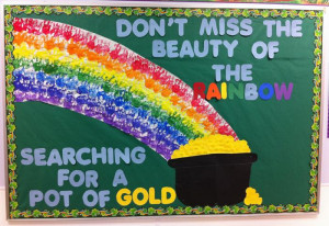 Beauty of the Rainbow - St. Patrick's Day Bulletin Board Idea