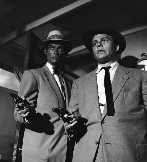 Abetting Lee Van Cleef in Kansas City Confidential (1952).