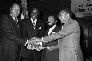 ... Angeles Mayor Tom Bradley, Vernon Jordan, Berry Gordy and John Mack