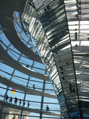 Norman Foster dome on the Reichstag, Interior