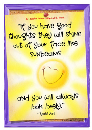 roald dahl sunbeam quote