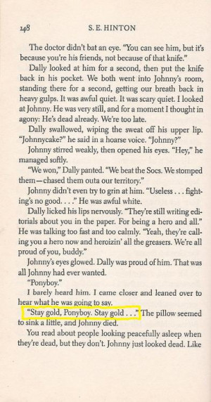 The Outsiders Quotes The outsiders s.e. hinton