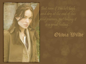 House MD Fans Olivia Wilde Quote