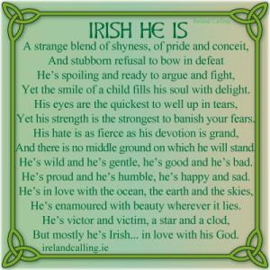 Irish poem. Image Copyright - Ireland Calling