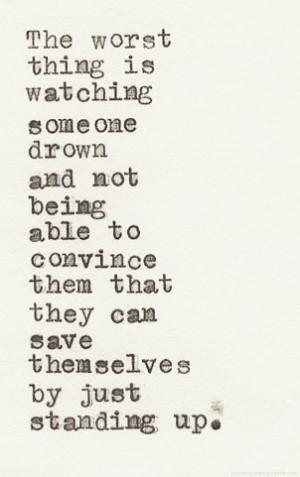 ... help paper type escape emotions self destruction typewriter save me