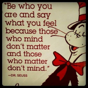 dr seuss be who you are life quote art inspiration illustration ...