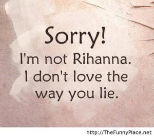 Rihanna funny quote