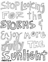 all quotes coloring pages--thesew ould be cute to print and color and ...