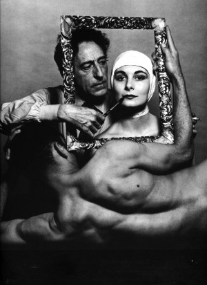 Philippe Halsman: French poet, artist and filmmaker Jean Cocteau with ...