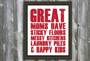 ... laundry piles. HATE. 8 X 10 Mom Quote - Wall Art - Customizable. $20
