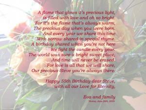 happy 55th birthday in heaven dear steve