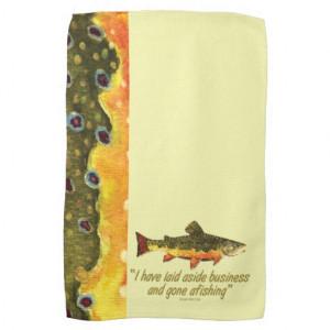 Izaak Walton Fishing Quote Kitchen Towel