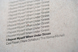 Repeat Myself When Under Stress