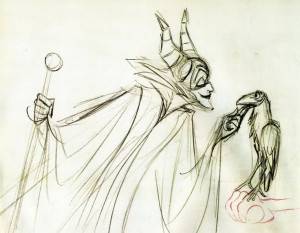 Marc Davis disney art - Google Search - Maleficent Sketch