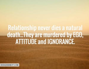 Relationship Ego Quotes