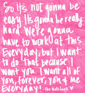 the notebook... quote so sweet