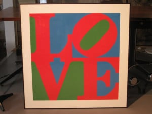 Robert Indiana Love Serigraph