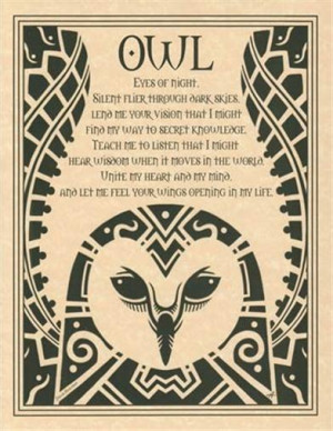 Details about OWL Evocation Parchment Book of Shadows Page or Poster!