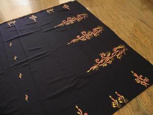 ... : Fabric Painting on Saree Paintings : Fabric Painting on Saree
