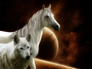 Horse and wolf the pack wolves white quotes