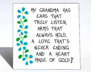 My Grandma Has Ears That Truly Listen