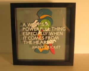 Jiminy Cricket Quote Frame