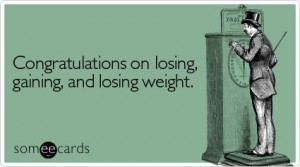 Losing weight, gaining weight