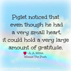 Piglet noticed that even though