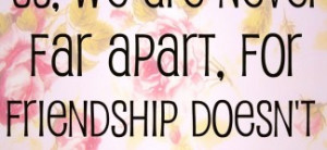 -distance-friendship-quote-in-cute-floral-design-funny-long-distance ...