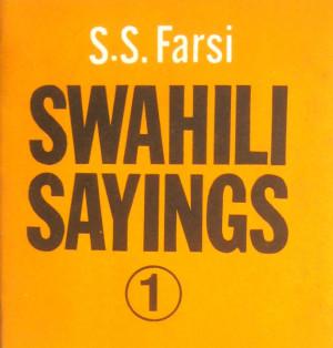 Vintage Swahili Sayings From Zanzibar Proberbs 1 Farsi 1978 Eastern ...