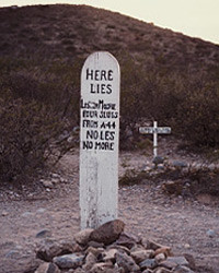 The final resting place of poor unfortunate Lester Moore, at Arizona's ...