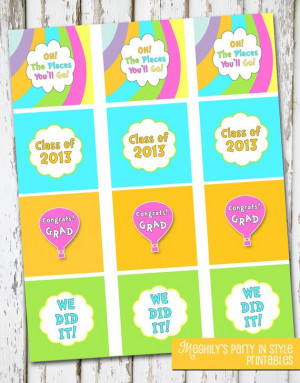 Oh The Places Youll Go Graduation Cupcake Toppers: Graduation Quotes ...