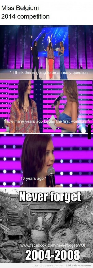 Funny Memes The great knowledge of a miss Belgium.