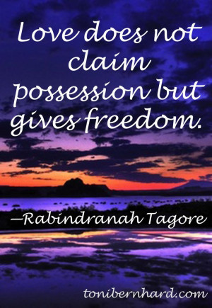 The Bengali philosopher and poet Rabindranath Tagore. Without trust it ...