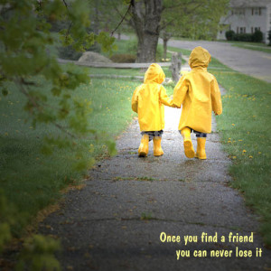 Friends Walking Together Quotes Two child friend walking