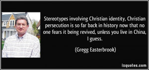 Stereotypes involving Christian identity, Christian persecution is so ...